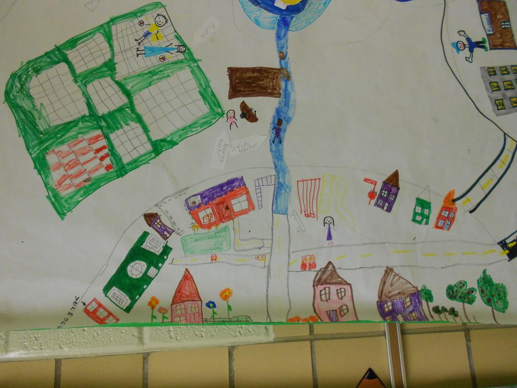 Community murals mrs lance 39 s second grade class for Community mural